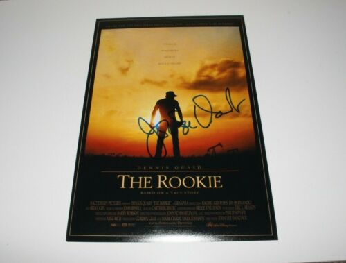 DIRECTOR JOHN LEE HANCOCK SIGNED 'THE ROOKIE' 12x18 MOVIE POSTER w/COA PROOF