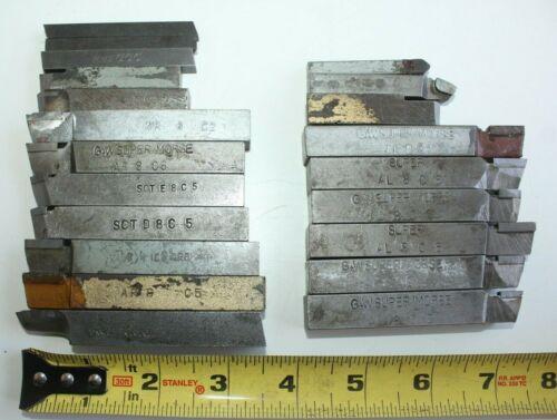 c) Lot of Assorted Lathe Machinist Cutting Bits