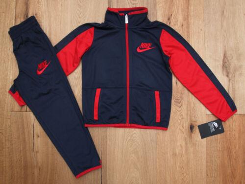 Nike Boy 2 Piece Jogging Set ~ Tracksuit ~ Navy Blue & Red ~