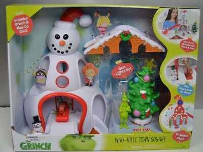 Dr Seuss Grinch Movie Whoville Town Center Playset Christmas Toddler Toy NIB
