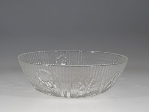 Scarce Vintage Jeannette Glass Crystal Large Beaded Berry Bowl c.1935