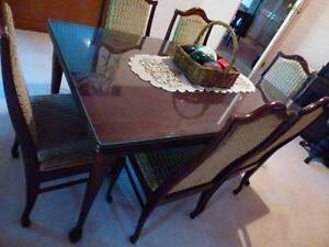 GLASS TOP DINING TABLE with 6 chairs Kangaroo Valley Shoalhaven Area Preview