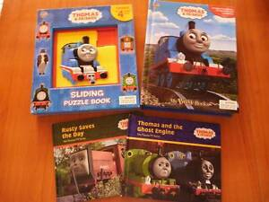 4 x Thomas Tank Engine Books and puzzels Carramar Wanneroo Area Preview
