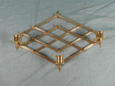 3 Kerze Wandleuchte ( Wandleuchter Kerzenhalter 3-flammig Messing Verstellbar Edel Antik Stil  o7d3)