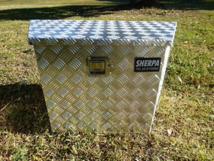 DRAWBAR 2MM CHECKER PLATE LOCKABLE STORAGE BOXES-TWO  SIZES-NEW Willow Vale Gold Coast North Preview