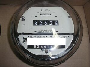 SCHLUMBERGER/SANGAMO ELECTRIC WATTHOUR METER (KWH), EZ READ, CYCLONE, 240V, 200A