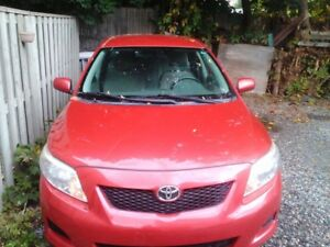 Like new 2010 Toyota corola with only 114km!