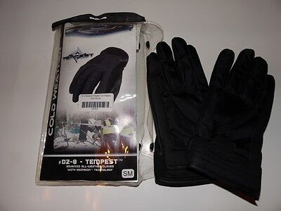 New DPG Tempest Cold Weather Duty Gloves size small (0305)