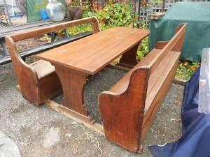 Jarrah slab table setting Rockingham Rockingham Area Preview