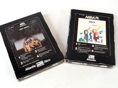 Lot of 2 ABBA 8-Track Audio Tapes ~ Arrival & The Album - Excellent