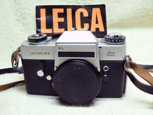 NICE Leica Lecaflex SL 35mm SLR Film Camera Body w/ Leather Strap & Manual