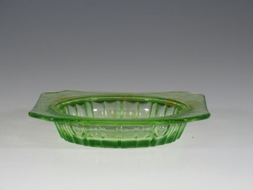 Vintage Jeannette Glass Green Adam Butter Base c.1935
