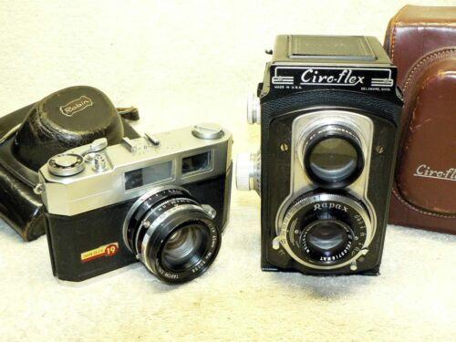 TWO Vintage Film Cameras- Ciro-flex 120 TLR & Taron 19 ROBIN 35mm Rangefinder