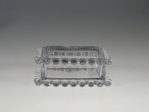 Vintage Imperial Glass Candlewick Cigarette Box Trinket Box c.1955