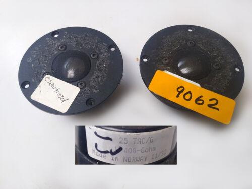 """2- 4"""" SEAS Dome Tweeter Speaker H-400 25 TAC/G 6 ohms Norway clearfield"""