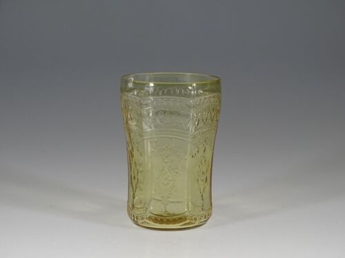Vintage Deco Federal Glass Amber Patrician 8 oz Water Tumbler c.1935