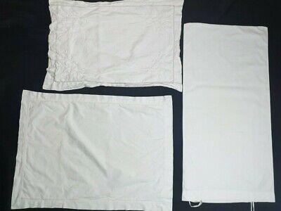 Vintage White Pillowslips & Bolster Pillow Case  #43