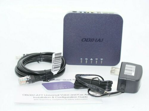 Obihai Technology OBI302 VoIP Telephone Adapter with 2-Phone Ports, Router & USB