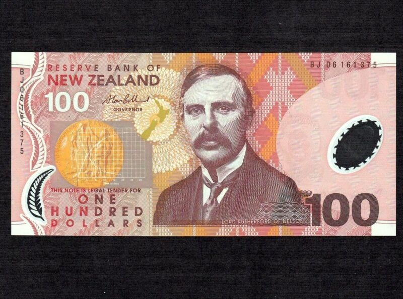 New Zealand 100 Dollars 2006 P-189b * Unc * Polymer Plastic *