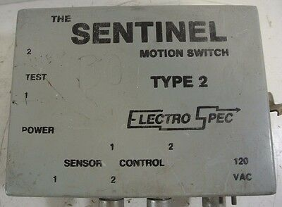 The Sentinel Motion Switch Type 2 Electro Spec 120 Vac