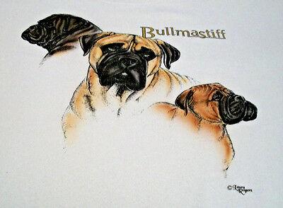 """Bullmastiff T-shirt  """" Ash """" Medium ( 38 ~ 40 )"""