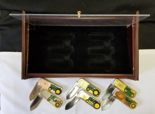 Franklin mint John Deere Knives Set Of 6 with case