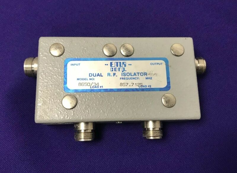 Good Used EMR Corp. 8650/34 Dual R.F. Isolator