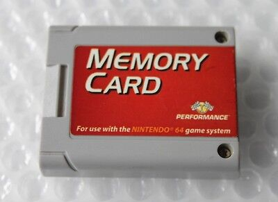 Nintendo 64 N64 Memory Card Controller Pack Performance SAVES Video Games TESTED