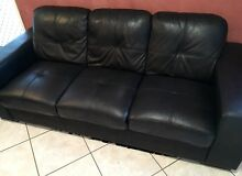 2 x 3 seater leather look lounges Mermaid Beach Gold Coast City Preview