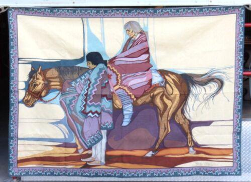 Amado Pena Yaqui Woven Rug Tapestry Southwestern Native American Signed Art