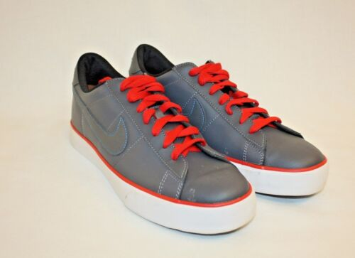 Nike Mens Gray Red Low Lace Up Casual Fashion Sneakers Shoes Size 9.5M