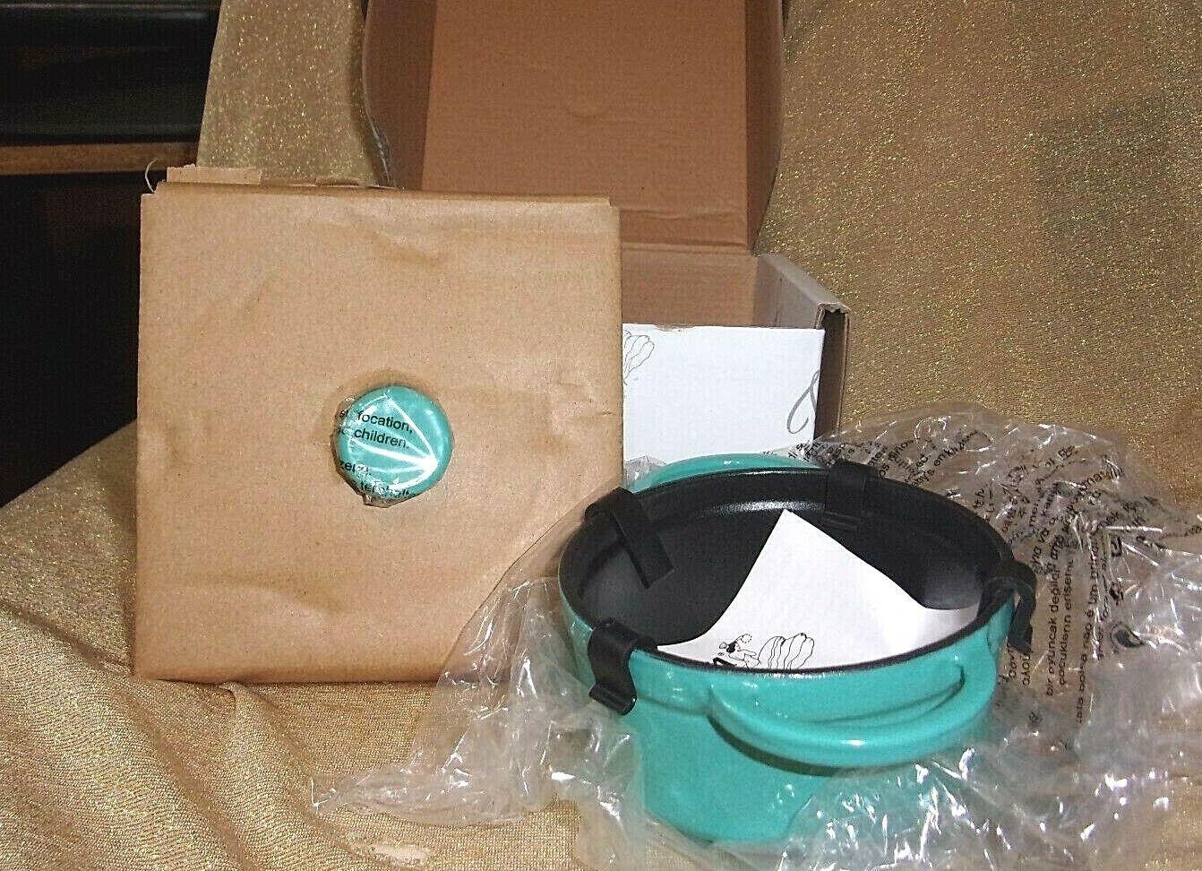 NIB FiestaWare Turquoise Cast Iron Mini Casserole/Lid Dutch