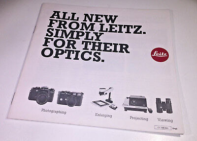 The sales brochure for the Leitz / Leica complete product range from 1980