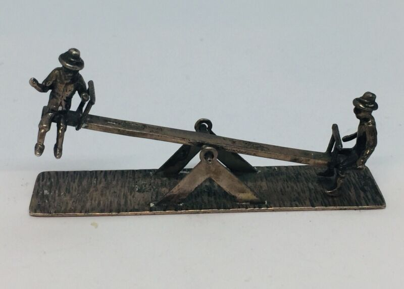 Dutch Antique Sterling Silver Seesaw Miniature