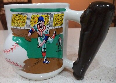 Baseball Pitcher Bat Ball Coffee Mug New