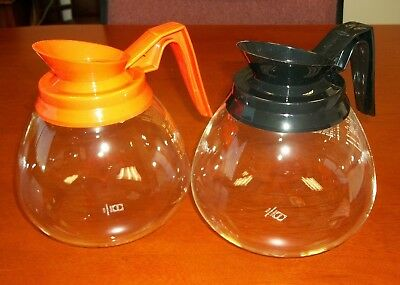 For Bunn - 2 Glass Coffee Potsdecanter - 64 Oz. Commercial - Black Orange-new