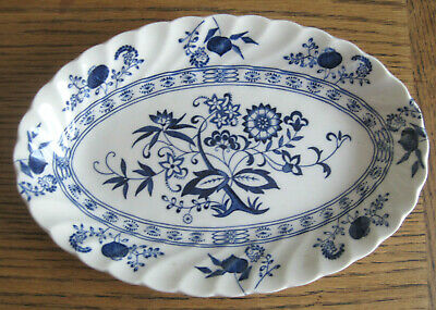 Johnson Brothers Nordic Oval Sandwich Plate Blue And White Tableware