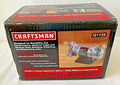 New Craftsman Bench Grinder 5 15 Hp 1amp Induction Motorpolishingsharpening