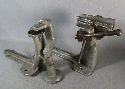 2 Wabco Wonder Vises Cast Aluminum Alloy Metal Mod-l Vintage Bench Drill Press
