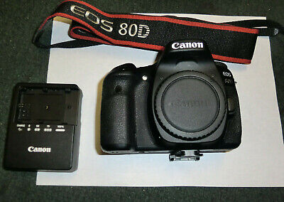 Canon EOS 80D 24.2MP Digital SLR Camera - Black (Body Only) *Low Shutter Count*