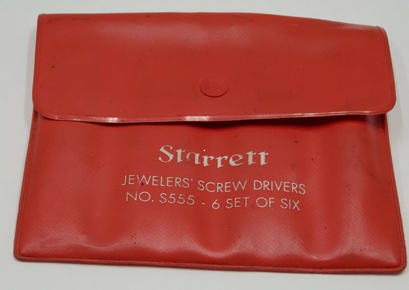 Starrett S555-7 7 Piece Jewelers Screwdriver Set