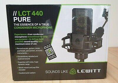 Lewitt LCT 440 PURE Condenser Studio Microphone Brand New Best price