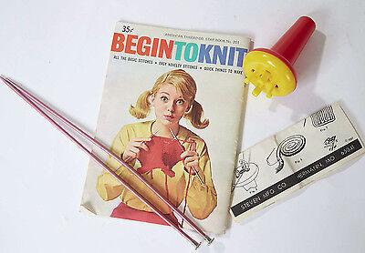 Steven's Knitting Set Kit for Beginners - Begin to Knit, Star Book 201, Vintage