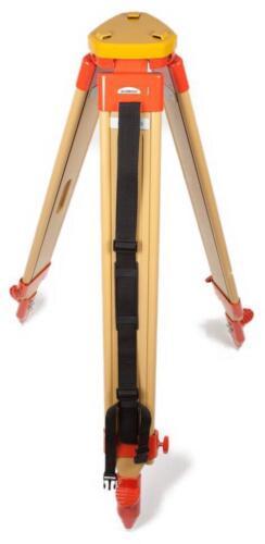 Flat Head HD Wooden Tripod, Survey, Contractor, Transit, Total Station