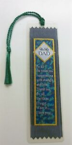 Beautiful Woven Dad Bookmark NEW Great Fathers Day Gift