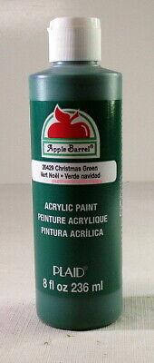 Apple Barrel~Plaid~#20429~Christmas Green~8 fl oz/236ml Bottle~Verde,Vert,Grün~