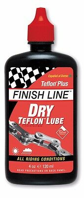 Finish Line Dry Teflon Bike Chain Lube   Lubricant All Condition   4Oz  120Ml