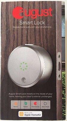 *NEW SEALED* August Smart Lock Keyless Home Entry Bluetooth Deadbolt - Silver