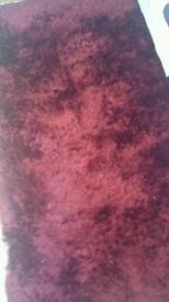 Lovely wine shaggy rug