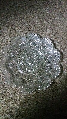 """VINTAGE BROCKWAY GLASS AMERICAN CONCORD PATTERN CLEAR 6.5"""" Saucer"""